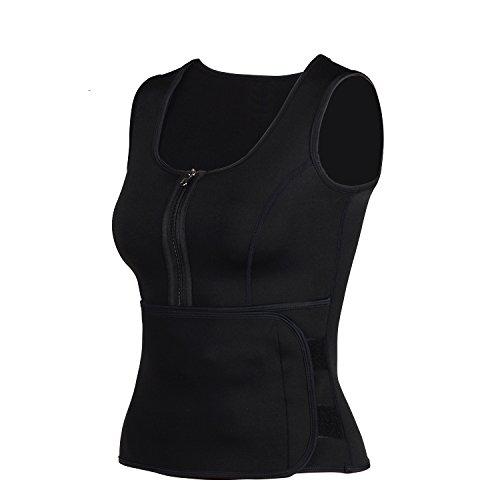 8fcd982c768 queenral Neoprene Corset Ultra Sweat Waist Trainer Belt Waist  TrainerSlimming Black