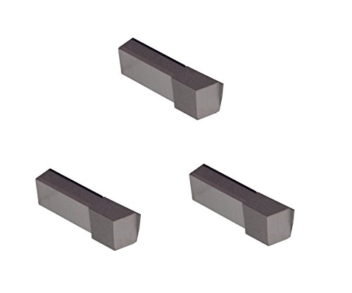 3 Pack LGT020D5R.020 Width.060 Depth, Uncoated Carbide, Sharp Corner, THINBIT Grooving Insert for Non-Ferrous Alloys, Aluminium, Plastic No Interrupted cuts by GROOVE 'N TURN