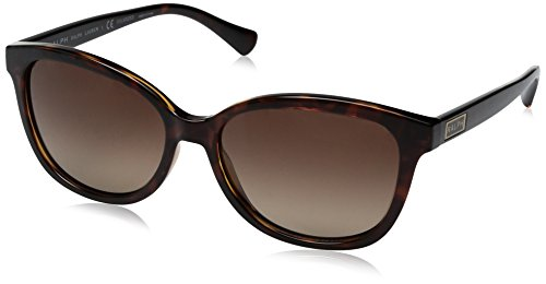 Ralph Lauren Sunglasses Women's 0ra5222 Polarized Square, Dark Tortoise, 56 ()