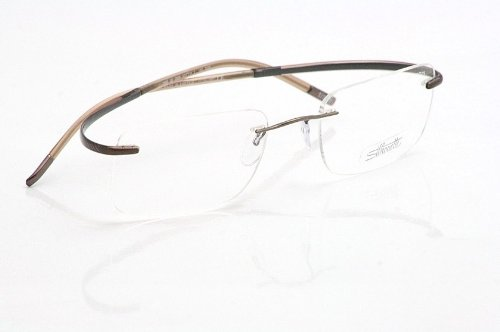 0ff78f25be Amazon.com  Silhouette Eyeglasses Spx Art 7690 6060 Brown Pinstripe Optical  Frame 21x155mm  Beauty