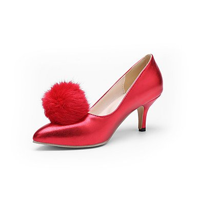 Talones de las mujeres de primavera y verano de cuero Otro vestido de tacón de aguja Otros Negro Azul Rosa Rojo Blanco Pink