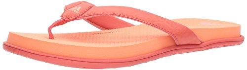 (adidas Women's Cloudfoam One Y W Flip-Flop, Trace Scarlet/Trace Scarlet/Chalk Coral, 11 M US)