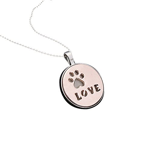 - Besooly Necklace for Women Personalized Fashion Jewelry Crystal Rhinestone Dog Paw Jewelry Birthday Graduation Gifts (Rose Gold)