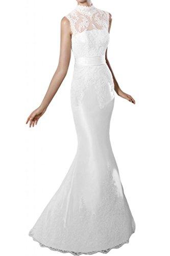 Toscana sposa benda Mermaid sogno principessa vestiti con abiti da sposa raso alto punta, tempo vestimento
