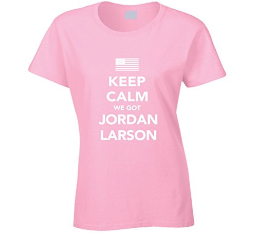 Jordan Larson Keep Calm USa 2016 Olympics Volleyball Ladies T Shirt 2XL Light Pink by Mad Bro Tees