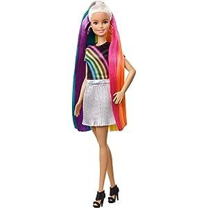 Barbie Rainbow Sparkle Hair Doll...