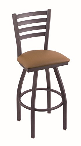 """Holland Bar Stool Co. 410 Jackie 30"""" Bar Stool with Pewter Finish and Swivel Seat, Allante Beechwood"""