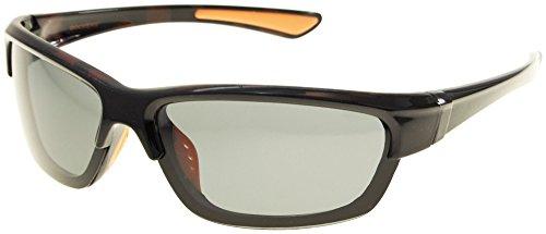 Dockers Mens Polarized Blade Sunglasses One Size - Black Sunglasses Dockers