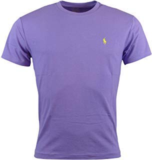 (Polo Ralph Lauren Mens Short Sleeve Crew Neck T-Shirt (Medium, Light Purple))