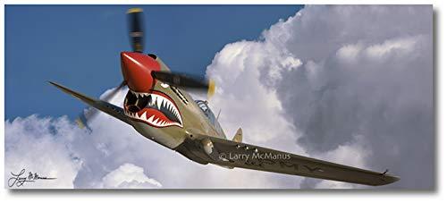 - Planejunkie P-40 Warhawk 1 by Larry McManus - Curtiss P-40 Warhawk Aviation - Digital Art (Semi-Gloss Paper - 30