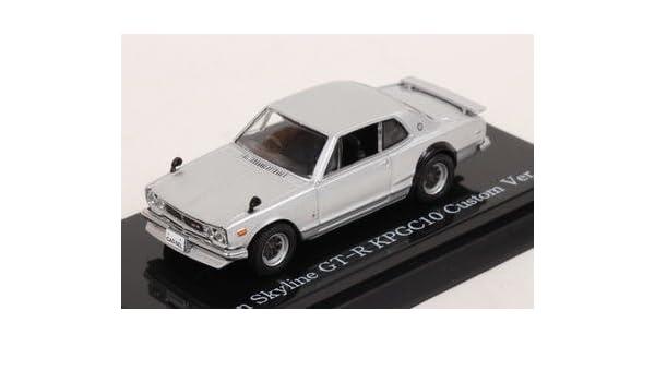 Amazon.com: Hikosebun CARNEL 1/64 Nissan Skyline GT-R (KPGC10) Custom Version (Silver) finished product: Toys & Games
