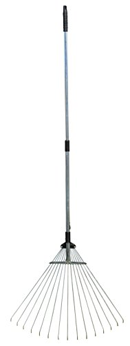 Harrier Hardware 63 Inch, Extendable/Collapsible, Metal Leaf - Extendable Rake