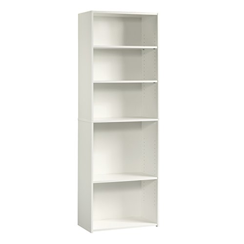 - Sauder 415542 Beginnings 5-Shelf Bookcase, L: 24.57