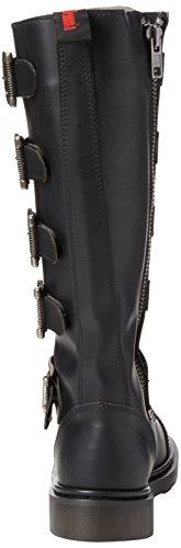 Defiant Demonia Schwarz Blk 420 Vegan Leather Uomo Stivali A11Zqp