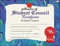 Student Council Certificate (Set of -