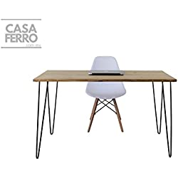 CASA FERRO Escritorio Vintage para Laptop con Silla Blanca Eames- Envío Gratis!
