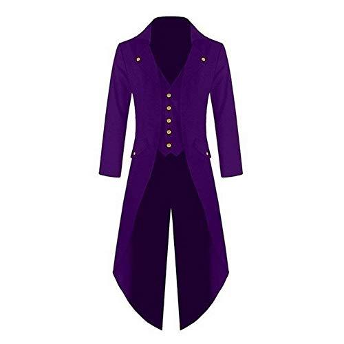 Coat Jacket Tuxedo Vintage Steampunk Cómodo Battercake Chaqueta Long Victoriana Cosplay Gothic Uniform De Chaqueta Lila Punto Xwq7YP6f