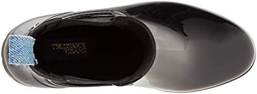 K299 Jeans Femme Nero Rubber Boot Bottes Noir Bottines Trussardi de Pluie Uyvqd1vAT