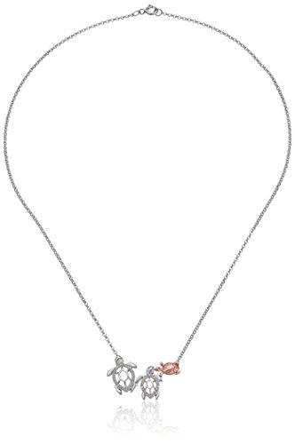 sterling-silver-and-rose-gold-plated-family-of-turtles-with-diamond-accent-necklace-17