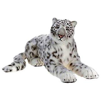 Amazon Com Hansa Crouching Siberian Mama Snow Leopard Plush Stuffed