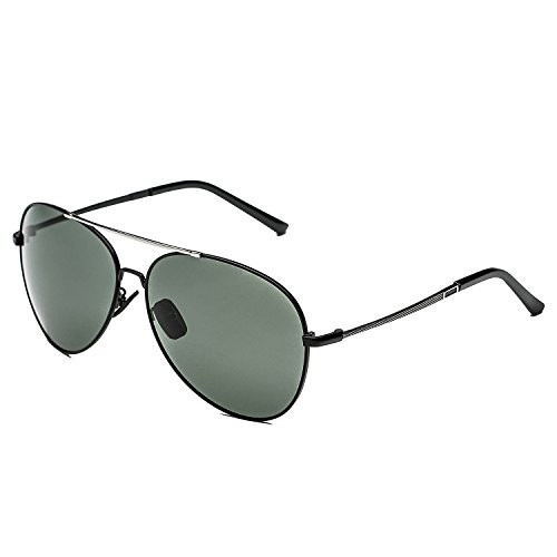 CHB Premium Military style Classic Aviator Polarized Sunglasses for Men - Sunglasses Bvl