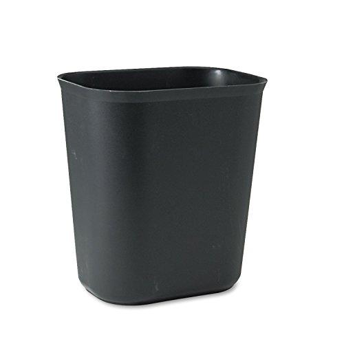 Rubbermaid Commercial 254100BK Fire-Resistant Wastebasket, Rectangular, Fiberglass, 3.5gal, Black