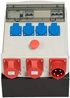Caja de obras diferenciales 30 mA – 40 A – 415 V – 4 tomas 2P + T – 16 A – 250 V – 2 tomas 3P+N+T – 16 A –