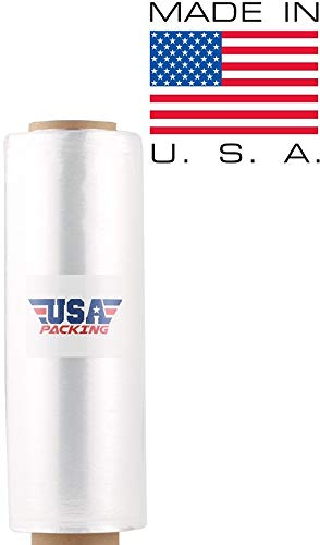 USA PACKING (R) Stretch Wrap Film Shrink Wrap - 17 Inch x 1476 Feet - 3.35 Lbs per Roll. Made in USA with Virgin Material. Durable & Light Weight. Pre Stretch (1 ROLL)