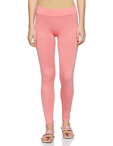 BIBA Women's Straight Fit Pants (CORE15023_Peach_Medium)