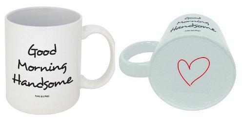 Boyfriend Mug (Funny Guy Mugs Good Morning Handsome Ceramic Coffee Mug, White, 11-Ounce)