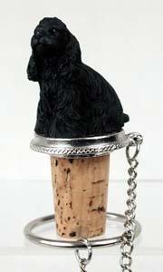 - Cocker Spaniel Bottle Stopper (Black)