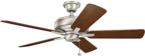 Kichler 330247NI, Terra Brushed Nickel 52″ Ceiling Fan Review