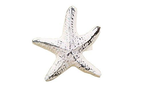 Rustic Whitewashed Cast Iron Starfish Napkin Ring 3\