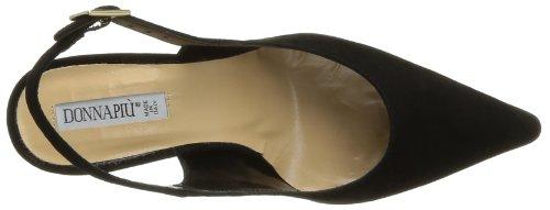 Donna Piu Amelia - Zapatos de Vestir de cuero mujer negro - Noir (Abrasivato Nero)