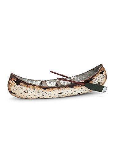 Abbott Collection 27-LODGE/0226 Md Birch Canoe w/Paddles-9.25