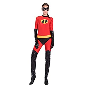 Red Dot Boutique 8053 Elastic Girl Mrs Incredible Costume Women Cosplay Suit