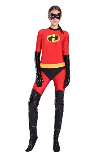 Red Dot Boutique 8053 - Elastic Girl Mrs Incredible Costume Women Cosplay Suit (M)]()