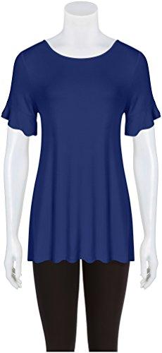 24cb607978ca74 Simlu Womens Tunic Tops to Wear with Leggings Ruffle Sleeve Reg and Plus  Size Tunics T