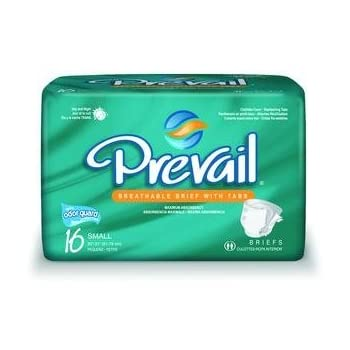 Prevail Specialty Briefs Case of 96 Waist Size 15-22