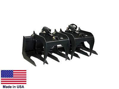 Streamline Industrial TINE GRAPPLE Commercial all Skid Steers - Logs, Rocks, Demolition - 6 Ft