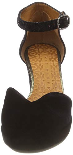 Mujer Black marga majo33 velvet Chie Para Negro Negro Merceditas Mihara Black Oro Ju ginza qRaxvwXA