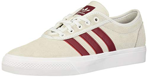 adidas Originals Adiease Sneaker, Crystal White/Collegiate Burgundy/White, 6 M US