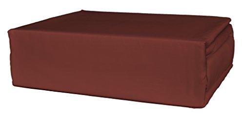 Brielle 630 Thread Count Egyptian Cotton Sateen Premium 600 Plus Duvet Cover, King, Brick Red