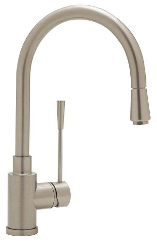 Blanco 157-098-ST Kontrole Kitchen Faucet with Metal Pull-Down Spray, Stainless Steel Finish (Down Handspray Pull)