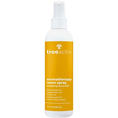 TreeActiv Aromatherapy Room Spray, Citrus Mint Scent, Provides Energy, Comfort, Focus, and Relief, Infused with Peppermint and Lemongrass Aromatherapy Oil Blends, 4 fl oz (118 ml)