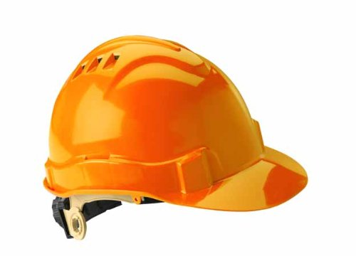 Gateway Safety 71216 Serpent High Density Polyethylene Vented Safety Helmet with Ratchet Suspension, Type I/Class C, Hi Viz Orange by Gateway Safety