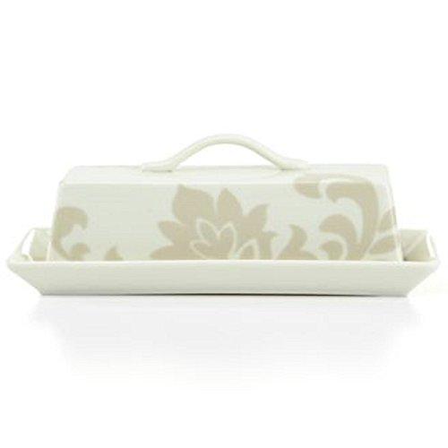 (Martha Stewart Collection Lisbon Grey Covered Butter Dish )
