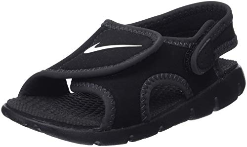 NIKE Boy's Sunray Adjust 4 (TD) Toddler Sandal Black/Anthracite/White Size 7 M US by NIKE