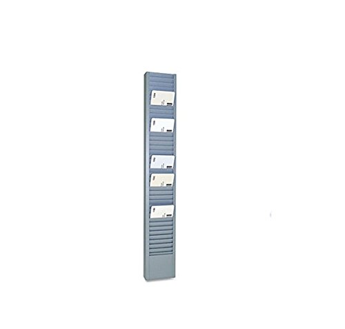 SteelMaster 20501 40-Pocket Steel Swipe Card/Badge Rack, 2-15/16'' x 18-11/16''