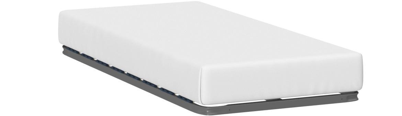 HOGAR24 Somier Multiláminas con Reguladores Lumbares, Sin Patas, Acero, 90x200cm